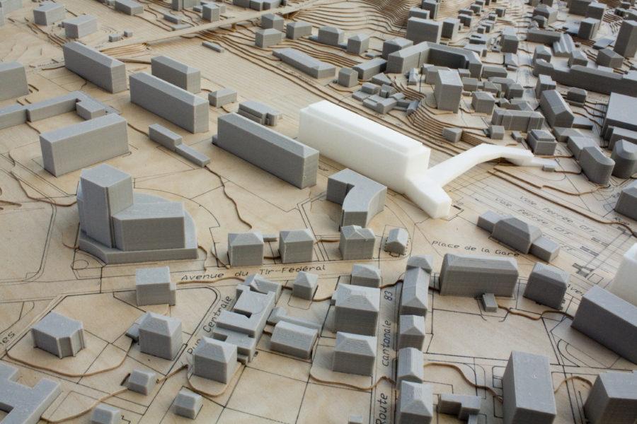 Visite à l'atelier des maquettes de la Ville de Lausanne